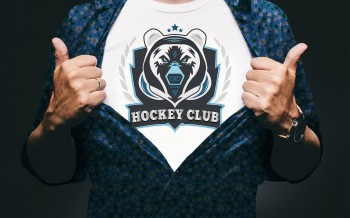 Logo Hockey Club réalisé avec Illustrator by Mathilde HUBERT