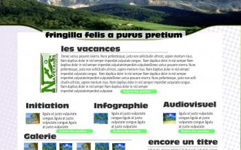 Maquette - Cours infographie au CRE de fatick