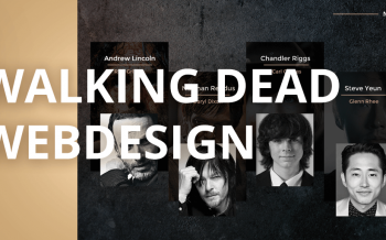Walking Dead Webdesign by Sony Rouhaud