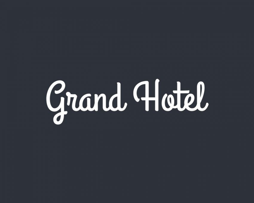 Grand Hotel free Font