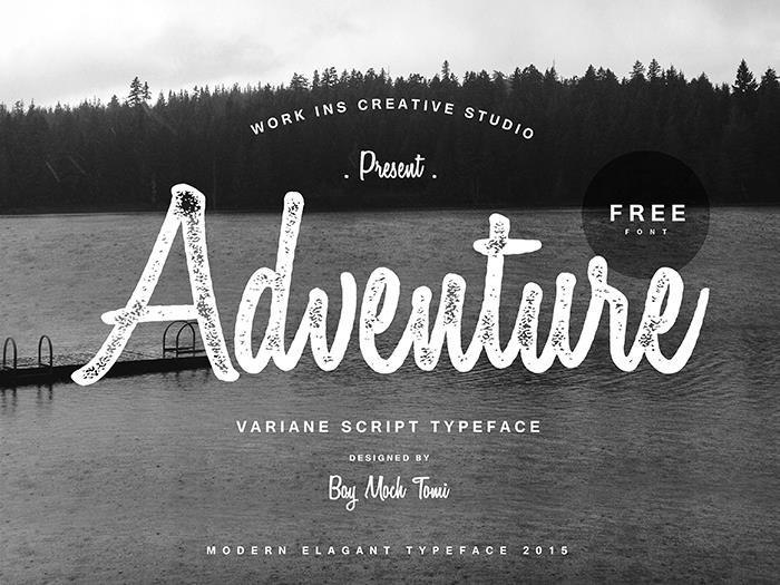 Variane Script free font