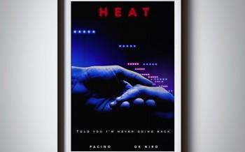 """Poster sur le thème de la dernière scène du film """"heat"""""""
