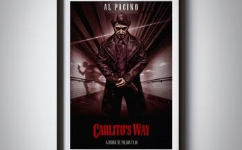 Poster du film Carlito's way by david djanbaz