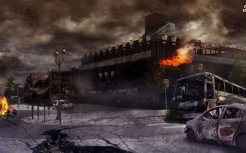 Matte Painting The Walking Tarbes by jonathan bieysse