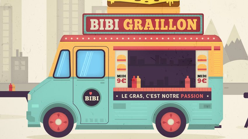 tutoriel illustration vectorielle   foodtruck   sur illustrator
