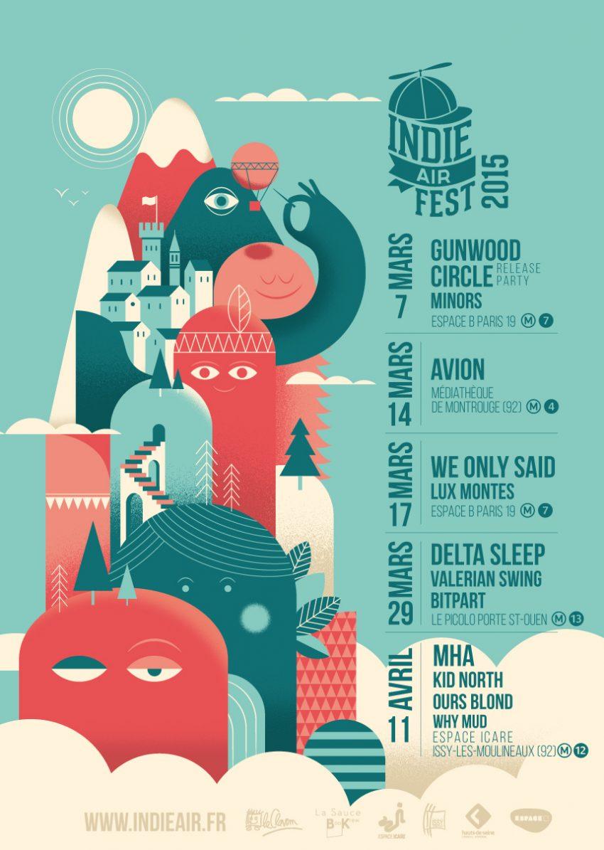 affiche indie air fest 2015