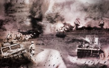War, compositing Photoshop by loic barillé