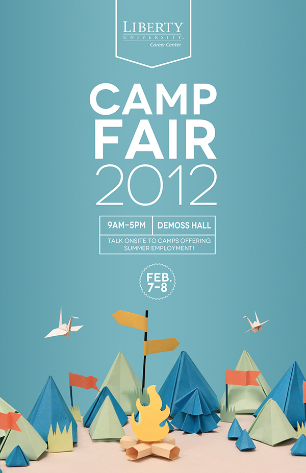 affiche camp fair 2012 liberty university