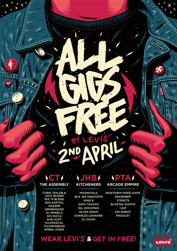 affiche levis all gigs free