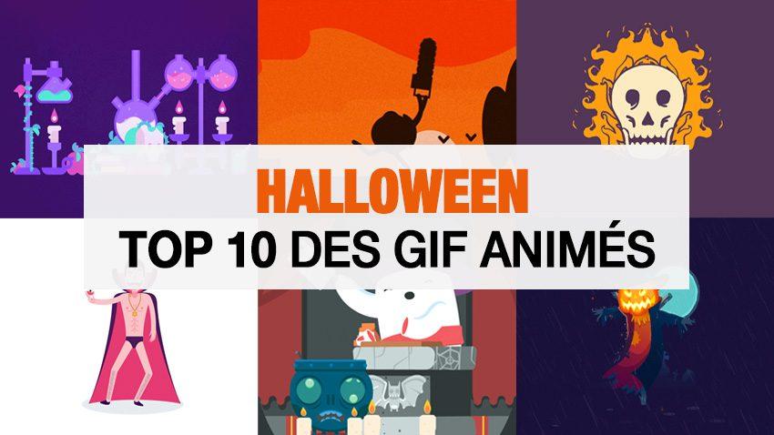 Halloween Top 10 GIF animés