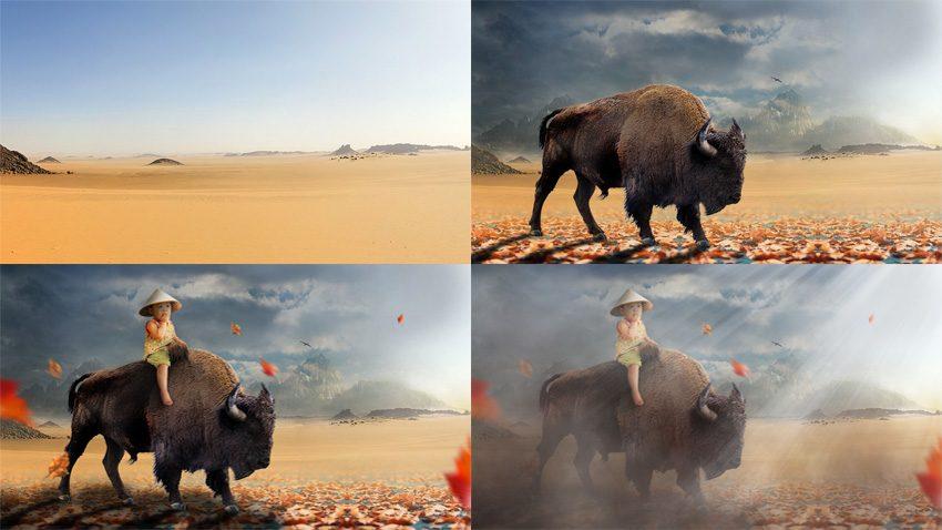 rendu tuto bison