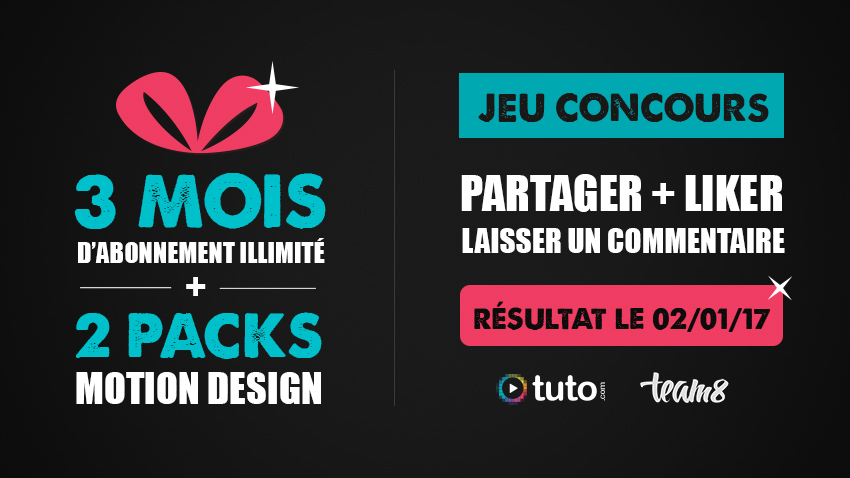 jeu concours pack motion abo tuto
