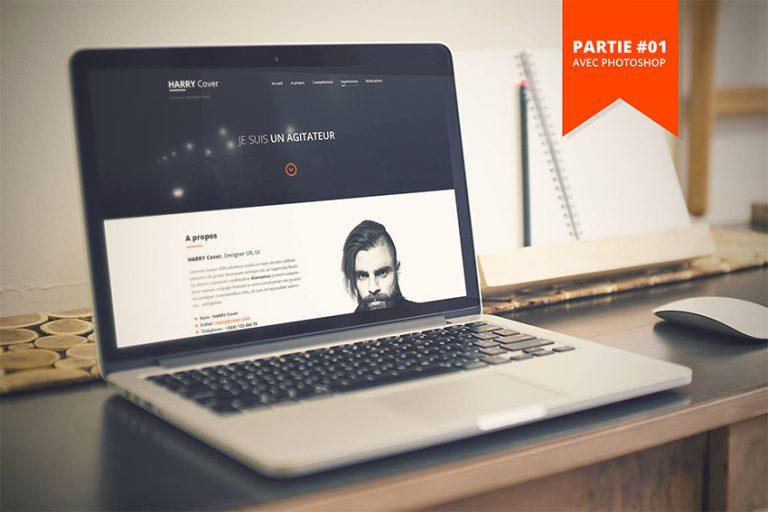 Tuto créer un Site CV / Portfolio avec Photoshop