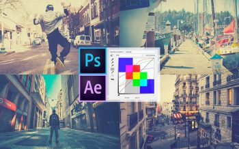 tuto slideshow courbes couleur photoshop after-effects