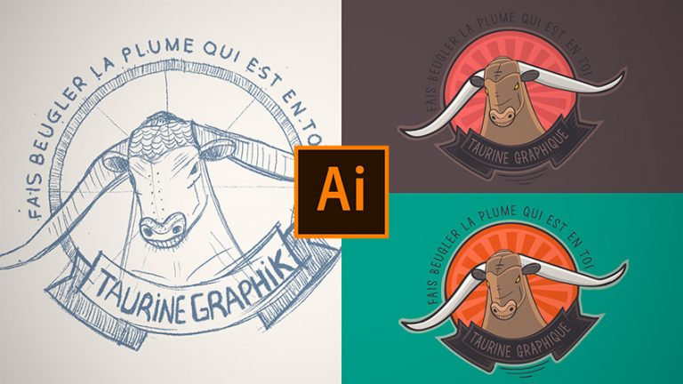 Tutoriel apprendre à dessiner un croquis pour en faire un logo dans Illustrator