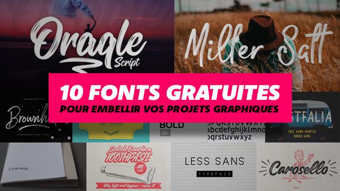 10 fonts gratuites