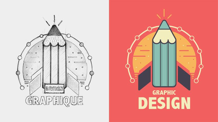 logo animé : rendu crayon