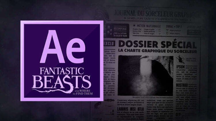 tuto animer un journal magique avec After Effects