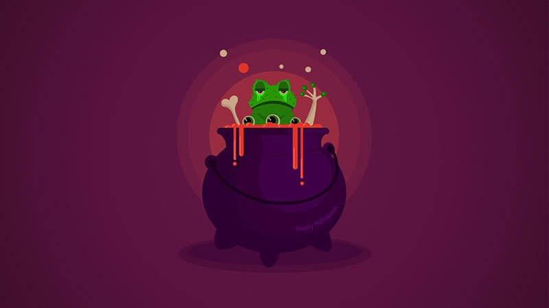 tuto halloween illustrator after effects chaudron grenouille