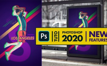 tuto adobe photoshop 2020 nouveautés affiche basketball