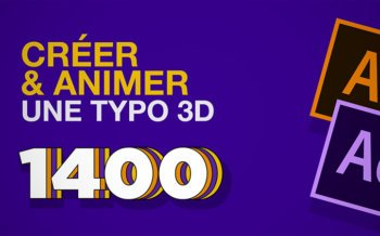 tuto animer typo 3D avec illustrator et after-effects