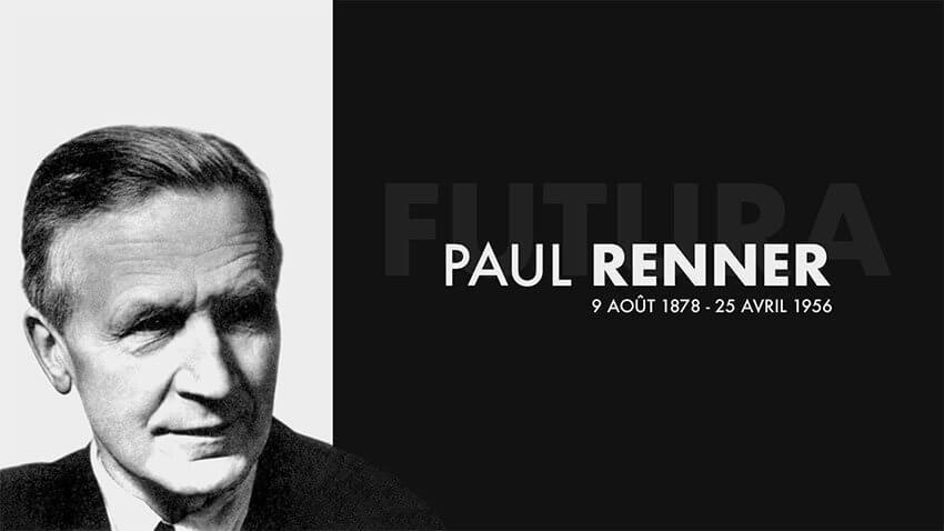 Paul Renner, créateur du Futura en 1927