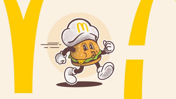 rendu final du redesign du logo de mcdonald's